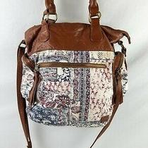 Billa Bong Boho Women's Handbag Medium Crossbody/tote Blue/brown Preowned Photo