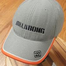 Billabong 73 Flex Fit Adult Hat Gray With Orange Trim Very Good Condition Photo