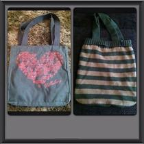 Billabong & American Eagle Striped Tote Bags Photo