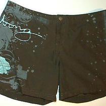 Billabong Appliqued Mini Board Shorts 10 Olive Green Aqua Euc Photo