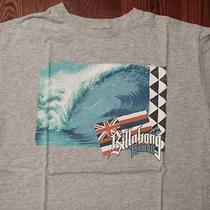 Billabong Australia Surf Skate Surfing Skating Style Logo Large Gray T-Shirt Photo