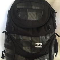 Billabong Backpack Gray and Black Plaid Padded Laptop Photo