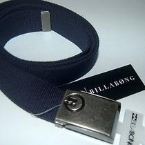 Billabong Belt New Mens Sprocket  Navy Canvas Surf Logo Adjustable Logo Surf Photo