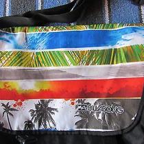 Billabong Black Multi-Color Large Messenger Bag Laptop Sleeve Case Cute Euc Photo