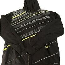 Billabong Black Zip-Up Hoodie With Neon Stripes- Size Xl Photo