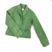 Billabong Blazer Size Large Juniors Green Slim Fit Jacket Photo