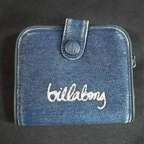 Billabong Blue Denim Wallet Silver Lettering Sparkles  Photo