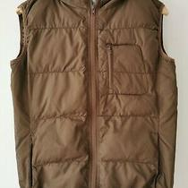 Billabong Brown Hooded Gilet Jacket Size Medium (D5) Photo