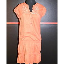 Billabong - Cap Sleeve Terracotta Dress W/ Print on Print Embroidery L Photo
