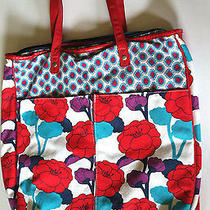 Billabong Computer Tote Bag Feminine Red Floral With Padded Liner (Large) Photo