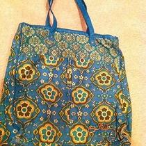 Billabong Computer Tote Bag Teal Floral Paisley Padded Liner Shoulder Purse Lg Photo