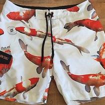 Billabong Coy Fish Gold Fish Board Shorts Beach Surf Skate Size 38 Photo