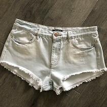 Billabong Denim Shorts Womens Size 30 Light Blue Denim Cut-Offs Frayed Raw Hem Photo