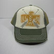 Billabong Distressed Adjustable Trucker Hat Cap Eagle and Arrows Logo Nwt Photo