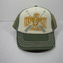 Billabong Distressed Adjustable Trucker Hat Cap Eagle and Arrows Logo Nwt Photo