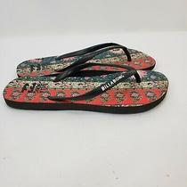 Billabong Flip Flop Sandals Women's Size 7/8 Multi-Color Floral Beach Casual  Photo