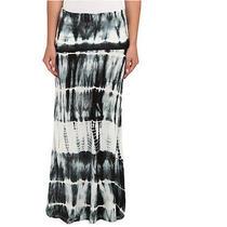 Billabong Fold-Over Tie-Dye Maxi Skirt Gray/black S Photo
