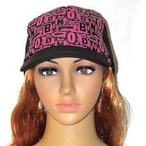 Billabong Fuchsia Black Logo Women's Trucker Hat Style Jahtwom Photo