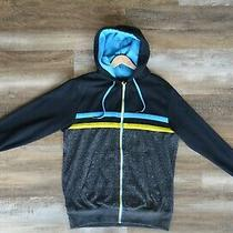 Billabong Full-Zip Hoodie Sweatshirt Men's L Black/gray/blue/yellow Photo