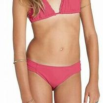 Billabong Girl's Swimwear Pink Size 7 Ruffle Trim Two Piece Bikini Set 49 317 Photo
