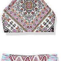 Billabong Girl Swimwear Pink Nude Size 8 Moon Tribe High Neck Bikini Set 59 550 Photo