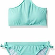 Billabong Girls Swimwear Mint Blue 14 Sol Searcher High Neck Bikini Set 49- 034 Photo