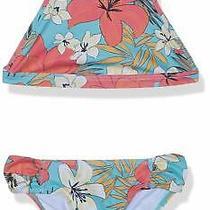 Billabong Girls Swimwear Pink Blue Sz 8 Aloha Sun Tank Floral Bikini Set 54 975 Photo