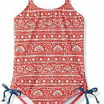 Billabong Girls Swimwear Red Blue Size 8 Free Babe One Piece Swimsuit 59 660 Photo