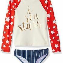 Billabong Girls Swimwear Red Blue White Size 10 Tankini Set I Sea Stars 64 043 Photo