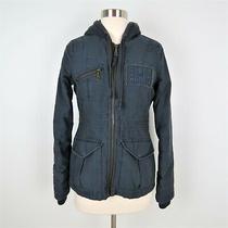 Billabong Gray Canvas Hooded Utility Jacket Women's Size Small Photo