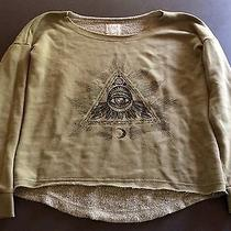 Billabong Green Juniors All Seeing Eye Slouch Sweatshirt Green Boatneck Large Photo