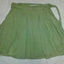 Billabong Green  Skirt With Waist Tie  Size 3 Photo