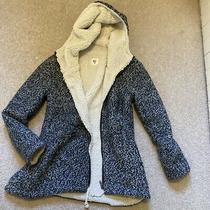 Billabong Grey Magda Jacket / Coat With Hood Xs Oversized Wool Lining Rrp 107 Photo
