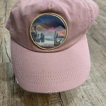 Billabong Hat Womens Peach Rose Pink Hike Mountain Cactus Os Rare Distressed Photo