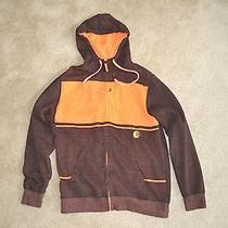 Billabong Hoodie Invert Orange Jacket Sweatshirt Mens Medium Free Shipping M Photo