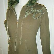 Billabong Hoodie Sweat Jacket  Sz S Green Camo Logo Photo
