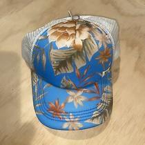 Billabong Jahtbher Heritage Mashup Trucker Hat French Blue Snap Back Palm Print Photo