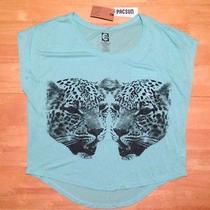 Billabong Jr Cheetah Print Top  /  T Shirt Sz L - Nwt From Pacsun Photo