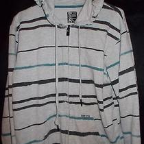 Billabong Junior Boy's Striped Zip Up Sweater - Medium Photo