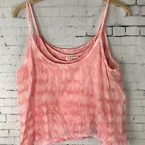 Billabong Medium Tank Top 2 Layers Women's Coral Pink Tie Dye Boho Read (D18) Photo