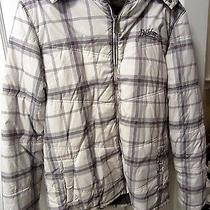 Billabong Men's Winter Outdoor Jacket  (Ivory & Gray Plaid)  - M Photo