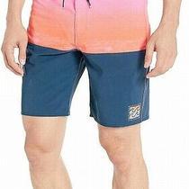 Billabong Men Swimwear Orange Pink Size 38 Trunks Fade Ombre Drawstring 59 520 Photo