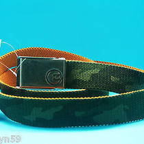 Billabong Mens Boys Army Green Camouflage Canvas Belt One Size 113 New With Tags Photo