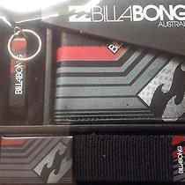 Billabong Mens Gift Set Wallet Belt and Bottle Opener Key Ring Bnib Photo