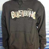 Billabong Mens New Medium  Hoodie Hoody Charcoal Logo Pull Over Sweater Ygol Photo