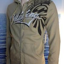 Billabong Mens New Medium M  Hoodie Hoody Logo Tan Khaki Zipper Sweater Arem Photo