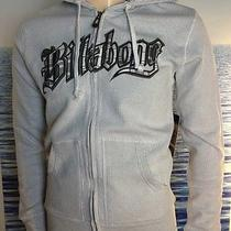 Billabong Mens New Medium M Hoodie Hoody Logo White Plaid Zipper Sweater 8bre Photo