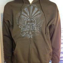 Billabong Mens New Small S Hoodie Hoody Brown Logo  Zipper Sweater 5cla Photo