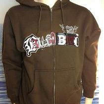 Billabong Mens New Small S Hoodie Hoody Brown Logo  Zipper Sweater Vloc Photo