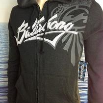 Billabong Mens New Small S Hoodie Hoody Logo Black Zipper Sweater Arem Photo